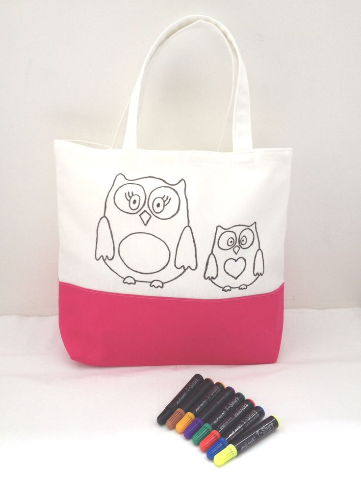 Colouring in totes & cushions for kids.