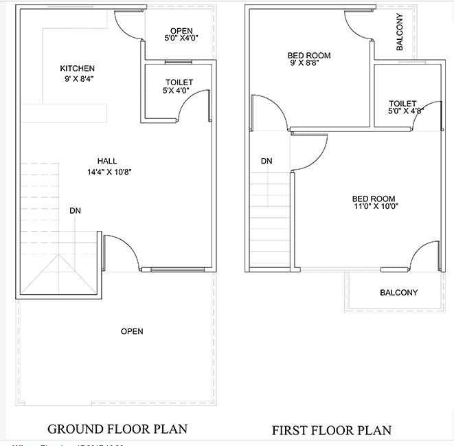 450 Square Feet Double Floor Duplex Home Plan Homes In Kerala