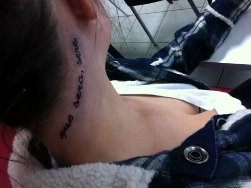 Hairline Tattoo