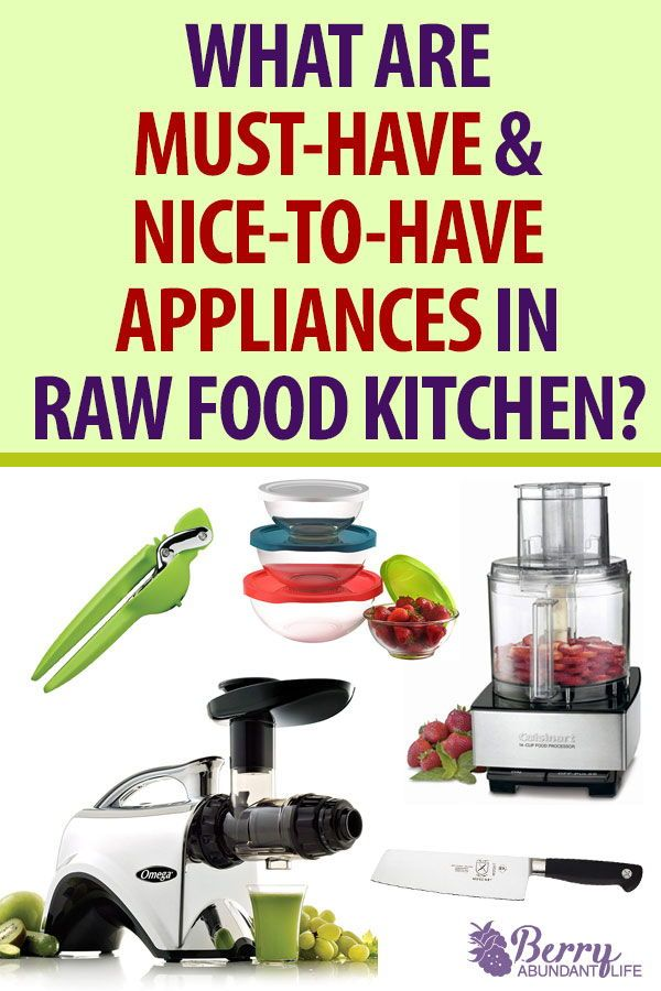 raw food diet with no equipment