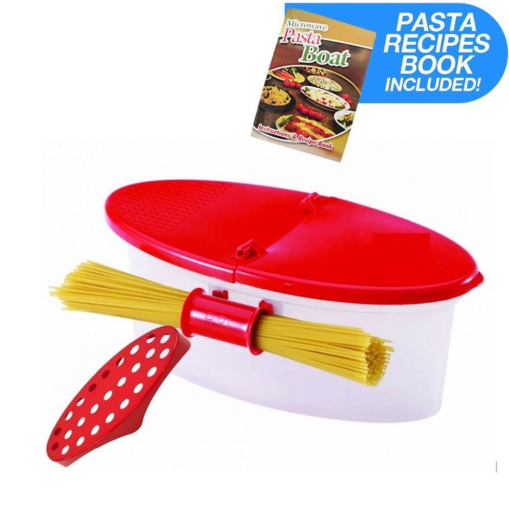 Hot Pasta Boat Heat Resistant PP Material Microwave Steamer Boat Strainer with Recipe Book, Vibrant Red ** Want additional info? Click on the image.
