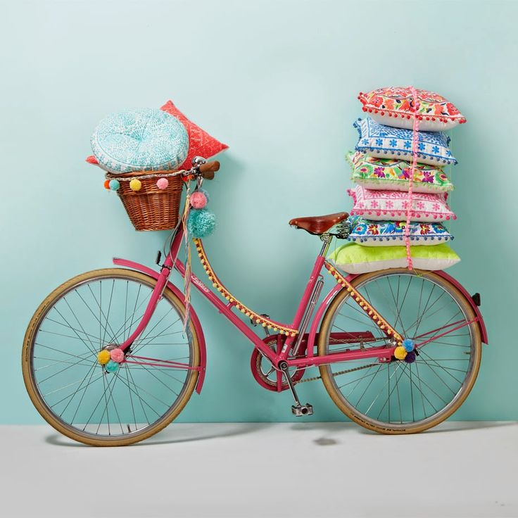 Bike with pom poms! Charlotte Love for Bombay Duck: Bike with pom poms! Charlotte Love for Bombay Duck