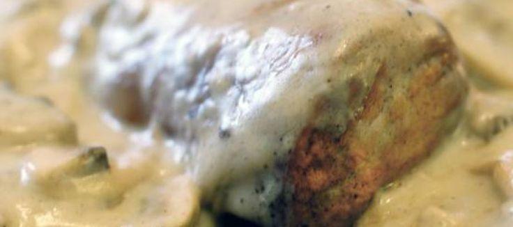 Lekkere malse varkenshaas in champignon-roomsaus   Lekker Tafelen