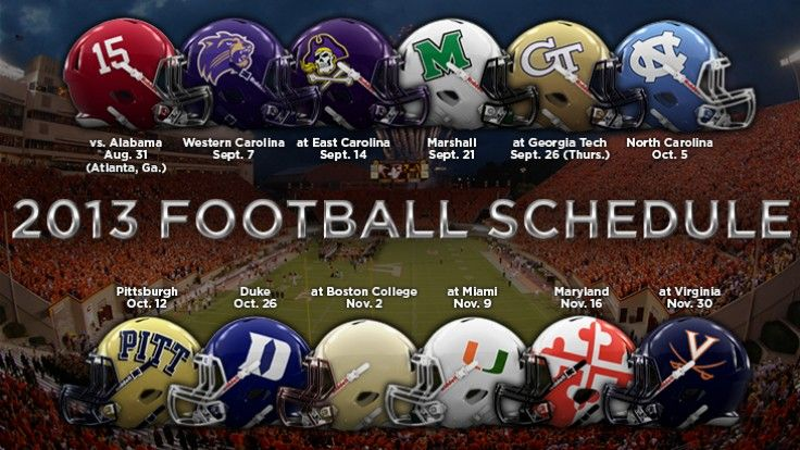 Virginia Tech Football Schedule 2013 | ... the Hokies' 2013 schedule | Virginia Tech Football with Andy Bitter