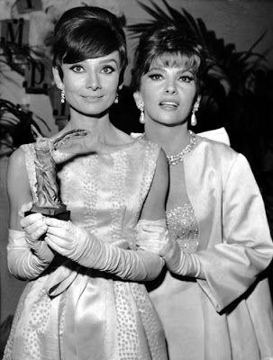 Vintage Glamour Girls: Gina Lollobrigida & Audrey Hepburn