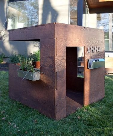 Not a DIY, but this is great modern outdoor playhouse DIY inspiration