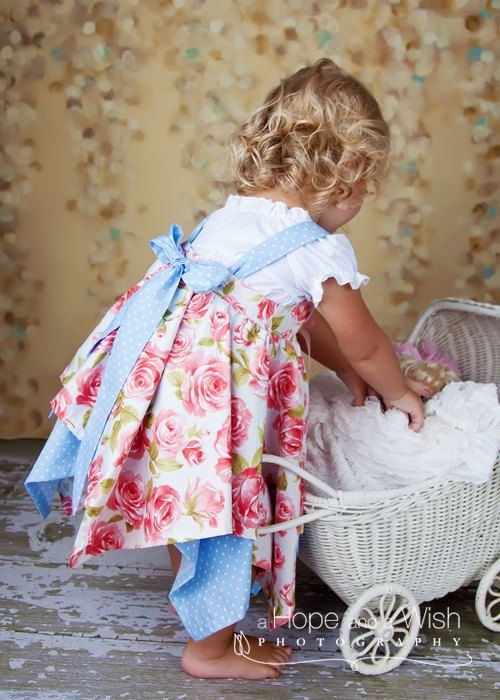 Sewing Pattern Handkerchief Dress Pattern Girls por tiedyediva