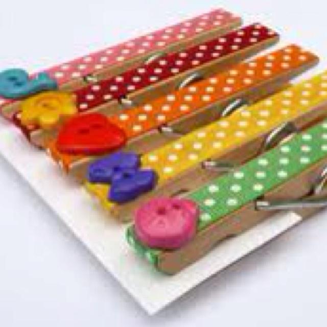Refrigerator Magnet Crafts - Clothespin Magnet For the kiddos