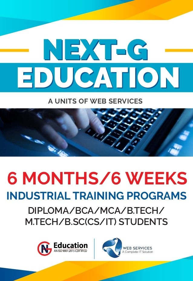 6 Month Industrial Training Program In Asp Net Next G Education