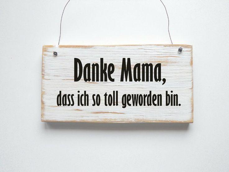 DANKE MAMA Dekoschild Türschild von DÖRPKIND   mehr Schilder auf www.doerpkind.de