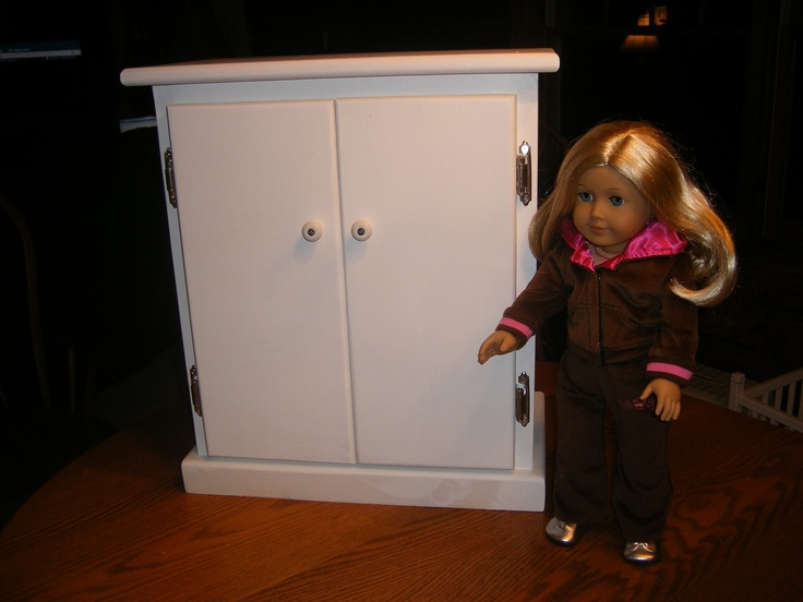 18 Inch Doll Armoire/Wardrobe For American Girl Doll Via Etsy.