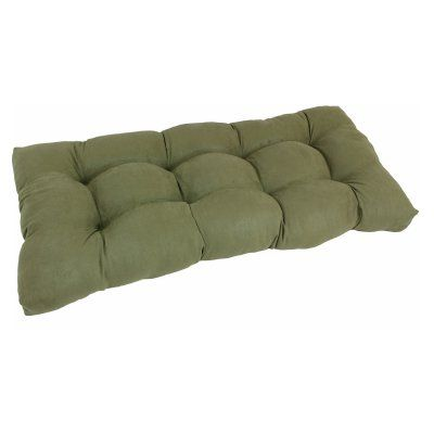 Blazing Needles Microsuede Indoor Bench Cushion Sage - 94006-LS-MS-SG