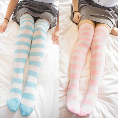 Cute striped knee socks thigh socks $16.70