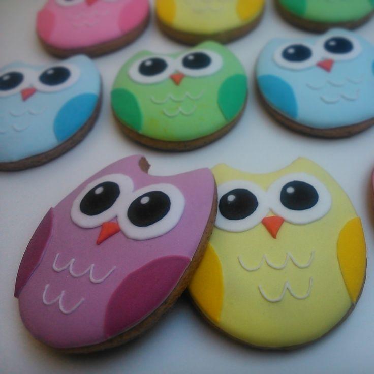 Happy owls by honiees #cookies
