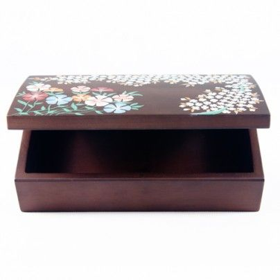 wooden jewelery box with handmade painting.. gift for mom