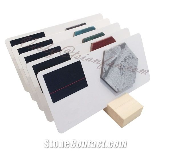 Marble Stone Tile Sample Board with Display Stand