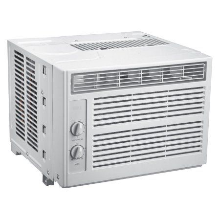 TCL 5,000 BTU 115V Window-Mounted Air Conditioner with Mechanical Controls, White
