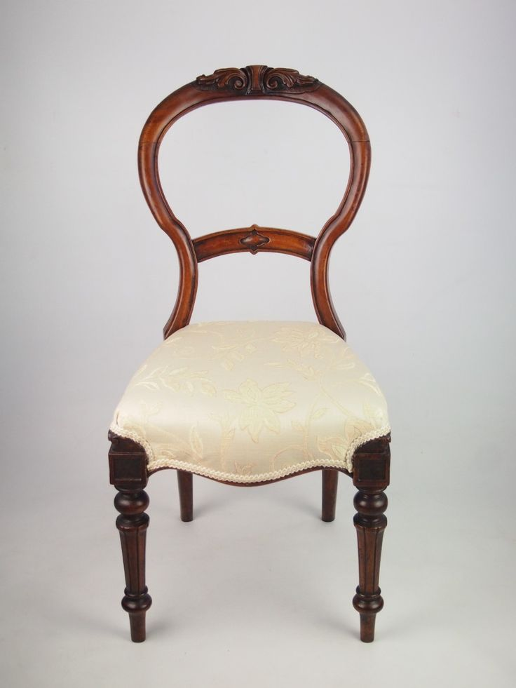 Charming Mahogany Balloon Back Chair, English, Late Nineteenth Century | VICTORIAN