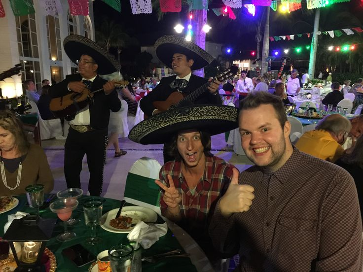 Mariachi band performing on the Mexico day buffet at Excellence Riviera Cancun