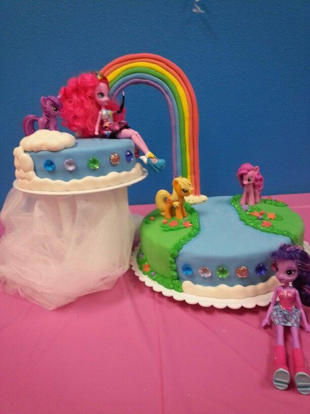 Rainbow Cake Equestria Girls Theme Birthday Cake Pops