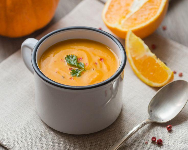 Soupe Potiron, Carotte & Orange - Cuisine Addict