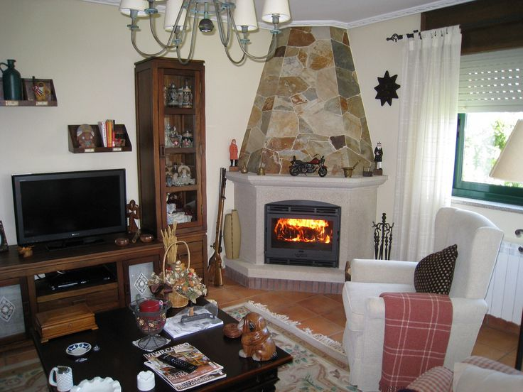 1000 images about chimeneas on pinterest fireplaces - Casas rusticas con jardin ...