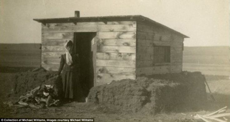 Welcome to the Badlands: Stunning black and white pictures give a rare glimpse into the hardships of life on the American frontier
