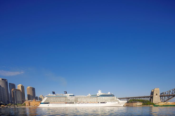 Celebrity Solstice cruise ship in Sydney Harbor, Australia. http://www.celebritycruises.com/destinations/australia-new-zealand