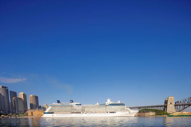 Celebrity Solstice cruise ship in Sydney Harbor, Australia. http://www.celebritycruises.com/destinations/australia-new-zealand