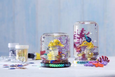 Bastelidee für den Unterwasser und Meerjungfrauen Geburtstag.   Umsetzung und Foto: Thordis Rüggeberg