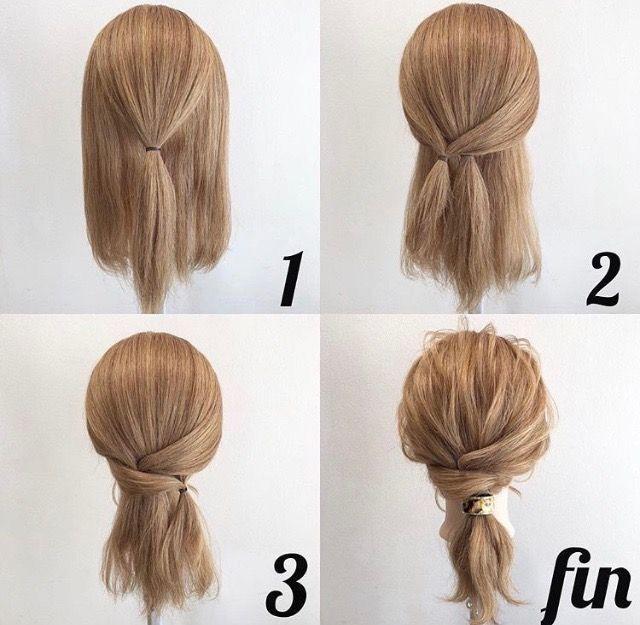 25+ Jolie coiffure facile et rapide des idees