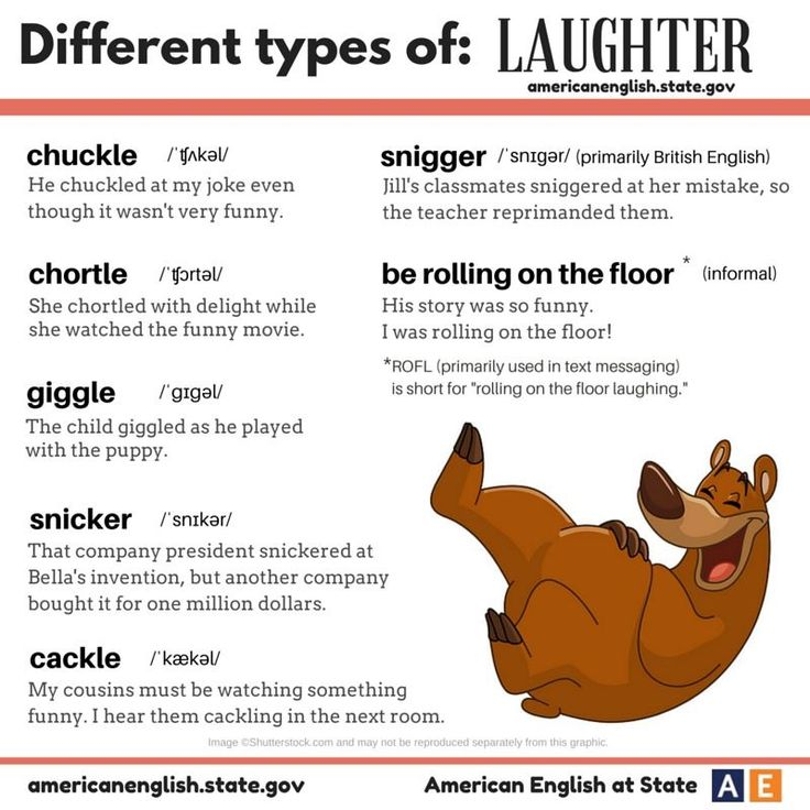Different types of laughter