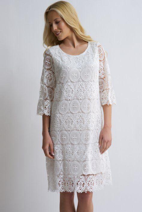 dress with lace ,long dress - bloeur.gr white dress lace boho bloeur summer 2017 caftan wedding gamos