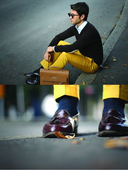 Yellow and brown (by Filippo F.) http://lookbook.nu/look ...