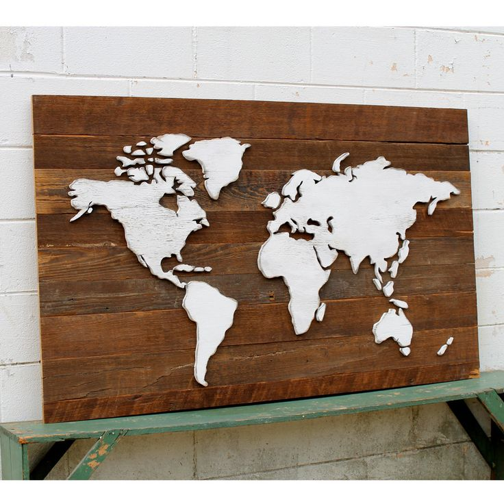 Rustic World Map Wooden Reclaimed Wood Large International Map by SlippinSouthern on Etsy