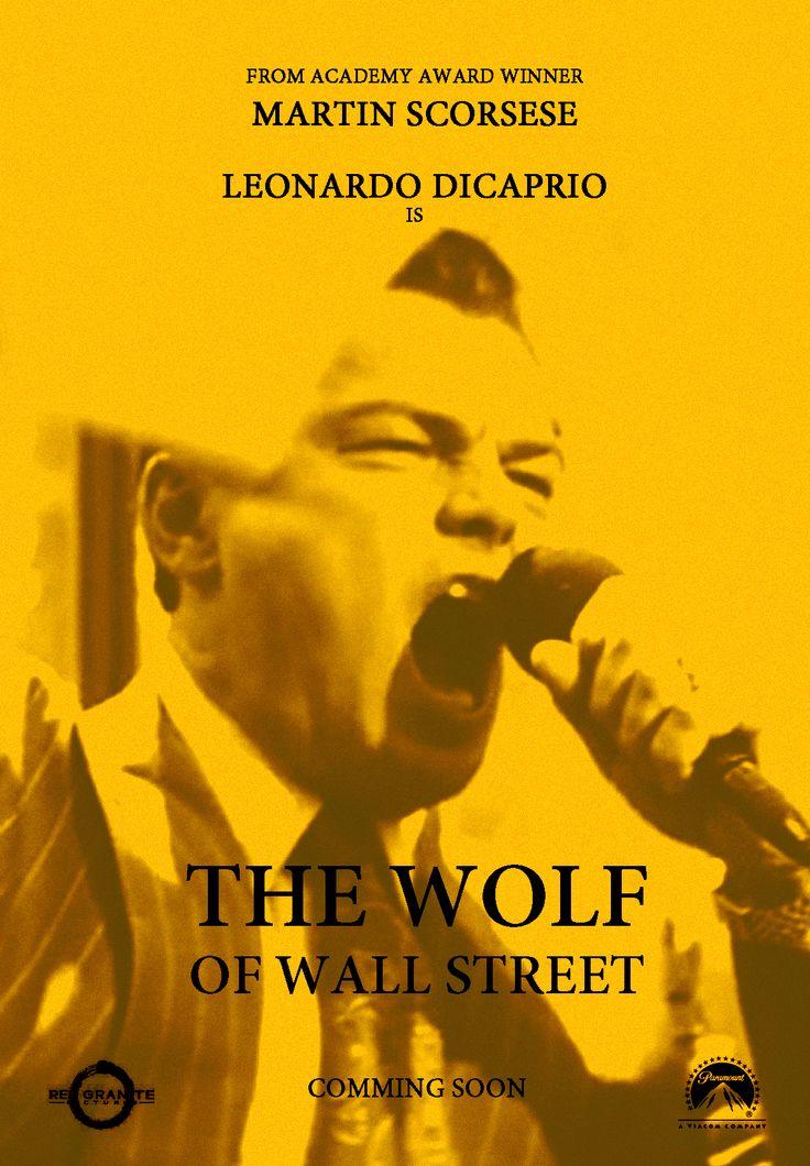 "Cartel clásico ""The Wolf of Wall Street"""