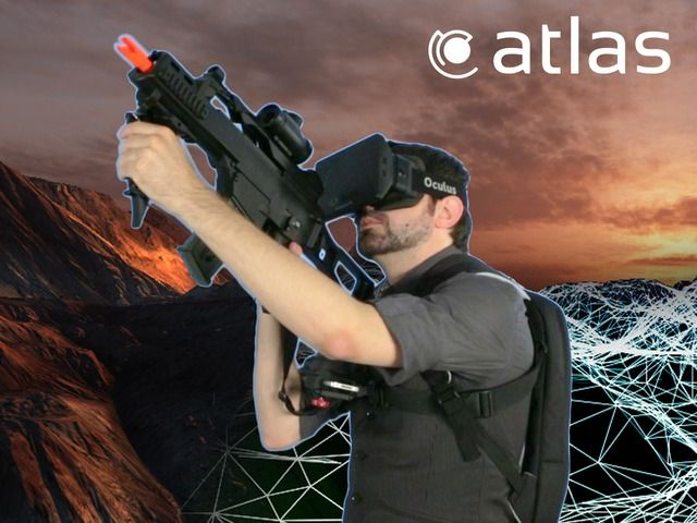 Atlas: Virtual Reality Made Real by Aaron Rasmussen — Kickstarter.  Atlas is a positioning system that consists of an app for the iPhone and markers placed on the ground. When worn by the player, it translates your real world movement into virtual reality.