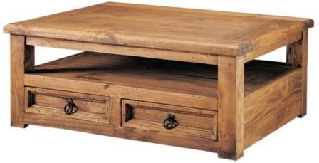 mesa de centro de madera rustica - Buscar con Google