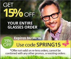 Get 15% off your entire glasses order! Use code: SPRING15 Expires 04/30/2016. #Eyewearcoupons http://www.planetgoldilocks.com/eyeglasses.htm  #Eyewear http://www.planetgoldilocks.com/eyeglasses.htm get 15% off your ENTIRE glasses order from #39DollarGlasses. #code Spring 15