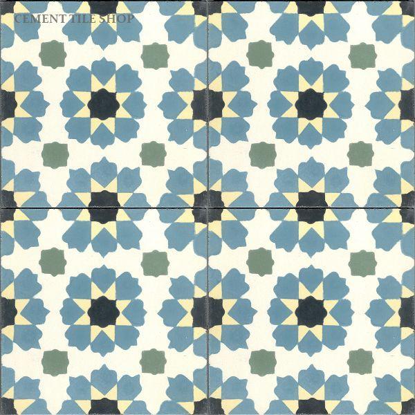Cement Tile Shop - Encaustic Cement Tile Moorish -could work in the bathroom or kitchen.