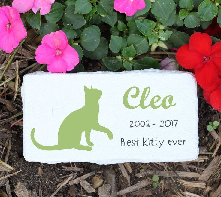 Cat memorial stones, pet memorial stone, pet grave marker, pet headstone, pet headstone, cat grave marker, several color choices, memorial by PetRocksbyTheresa on Etsy