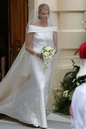 Giorgio Armani Dresses Charlene Wittstock for Monaco's Royal Wedding