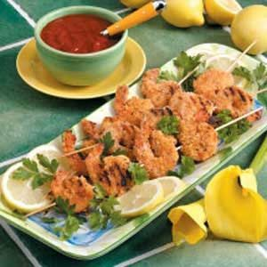 About this: Appetizer Shrimp Kabobs Recipe- I just had these at a party, and they were awesome! Also add veggies that were partially sauteed in Italian dressing. ! http://pinterest.com/pin/72057662758935631/