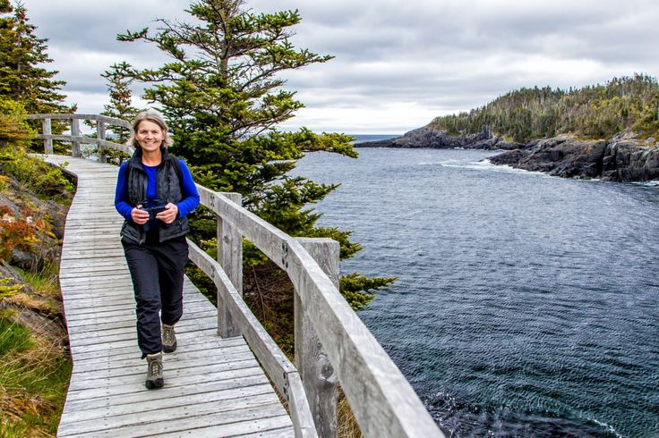 For a hike that's really out there, try Newfoundland's East Coast Trail, crossing the easternmost land in North America. It runs for about 335 miles past towering cliffs and headlands, sea stacks, deep fjords, and a natural wave-driven geyser called the Spout. Intentionally left unspoiled, the trail leads over large rocks and along cliff edges. http://www.eastcoasttrail.ca/
