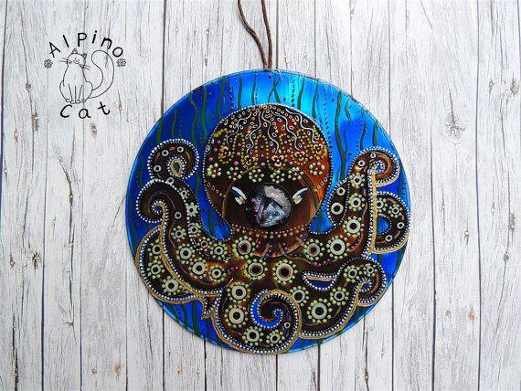Octopus decor, sea decor, sea ornament, whimsical octopus, underwater world…