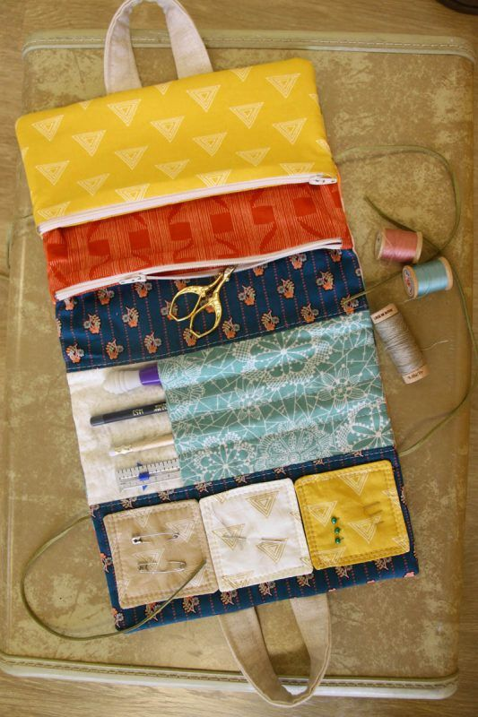 Make a handy Travel Sewing Kit with favorite fabric colors and prints - a great gift for your favorite stitcher! Watch the video tutorial from WeAllSew.