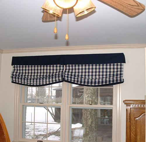 17 best images about valances on pinterest window for Fabric shades for kitchen windows