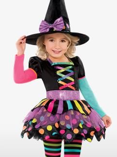 Miss Matched Witch - Toddler & Child Costume Fancy Dress