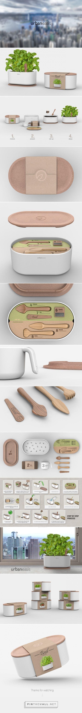 Urban Oasis #gardeningkit #packaging designed by Andrea Mangone - http://www.packagingoftheworld.com/2015/07/urban-oasis.html