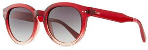 Toms Bellevue Rounded Ombre Sunglasses, Red/Pink
